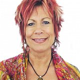 Sue Nicholson renowned TV psychic wears a Nu-Me Protective Pendant
